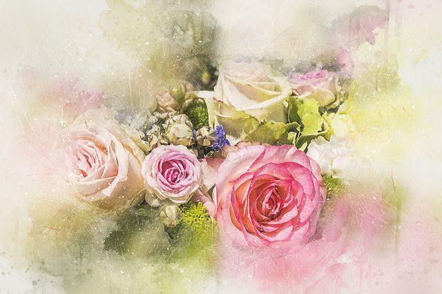 صور فنية مميزة لوحات فنية مرسومة يدويا Art Bouquet Flowers