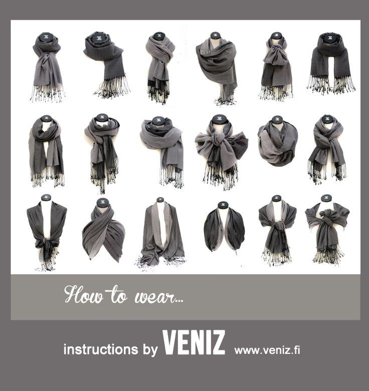 How to wear scarf... www.veniz.fi