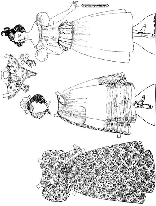 Past Patterns Paper doll - high resolution