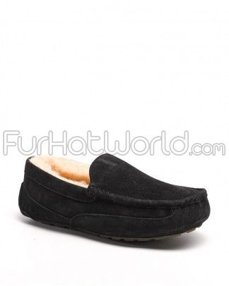 Shop FurHatWorld for the best selection of Men's Sheepskin Slippers. Buy the Parker Men's Shearling Sheepskin Slipper in Black by FRR with fast same day shipping.