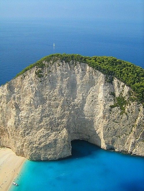 The famous Navagio beach from above ~ Zakynthos