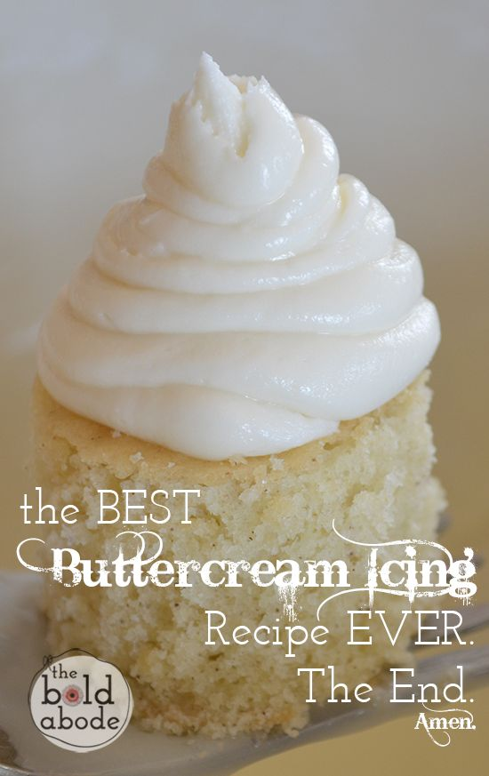 The Best Buttercream Icing Recipe, like ever