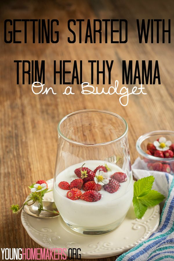 Are you thinking about starting the Trim Healthy Mama plan but you're scared your budget will take a serious hit? Check out these tips to help you make it work for YOUR budget! | Young Homemakers