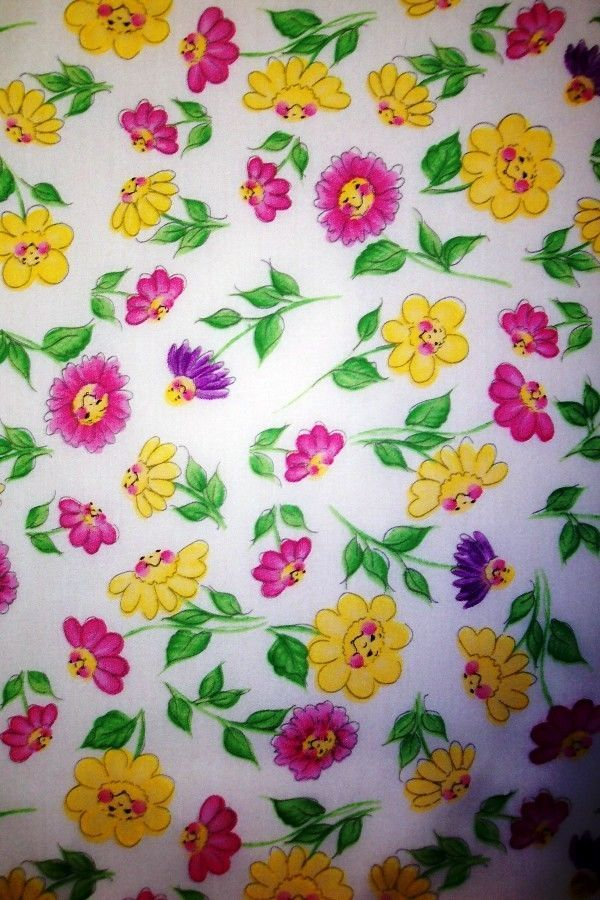 HAPPY FLOWERS- PADDED COVER FOR 12X42 WALL CABINET IRONING BOARD #CUSTOMMADEIRONINGBOARDCOVER