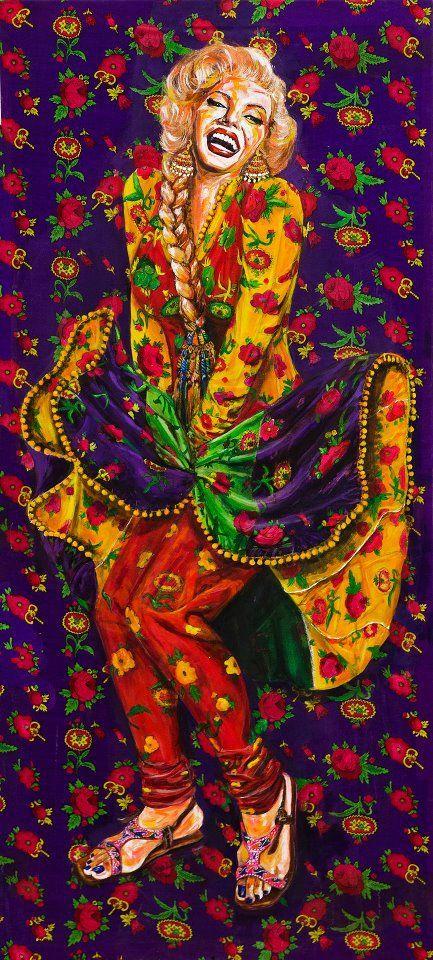 """Desi Marilyn, """"Baar baar dekho, hazaar baar dekho"""" by Sumaiyya Jillani, Karachi, Pakistan."""