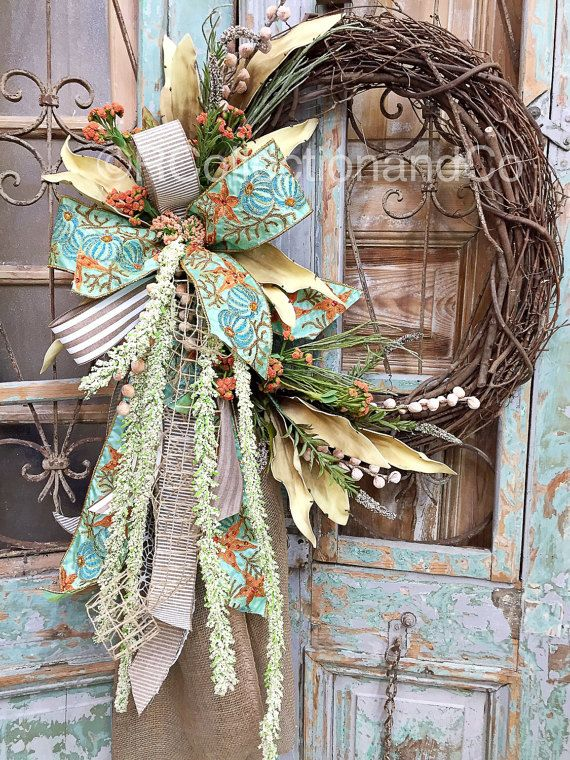 Everyday Wreath Summer Wreath Spring Wreath by RcollectionandCo