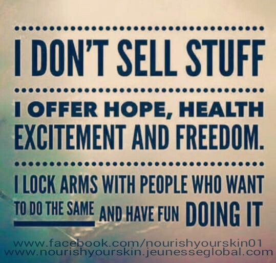 Lock arms with me & my incredible team of Entrepreneurs and we will all have fun & excitement on our way to HEALTH & FREEDOM www.facebook.com/nourishyourskin01 Www.nourishyourskin.jeunesseglobal.com