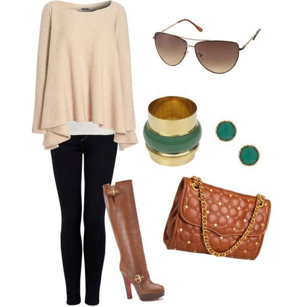 fall: Fall Style, Knee High Boot, Green Accent, Fall Outfits, Fall Fashion
