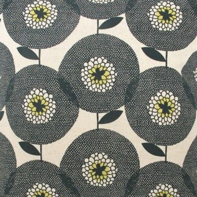 Flower Field, in Penny Black fabric by skinny laminx on Etsy. via konfetti