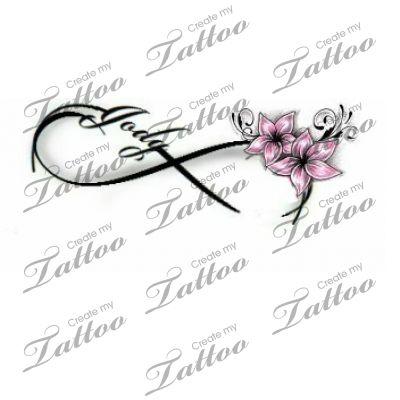 Infinity Love Tattoo   Flower #103891   CreateMyTattoo.com