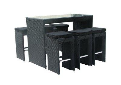 Morkan Bar med 6 barstole