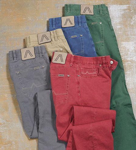 Alberto Soft Cotton Fadeout Five-Pocket Color Jean