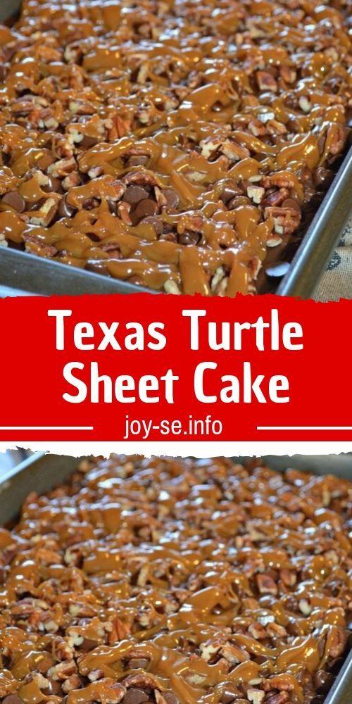 Texas Turtle Sheet Cake   – Best desserts Recipes