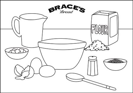 Baking coloring pages for Baking coloring pages