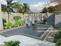 jasa desain kolam renang taman belakang rumah - jasa