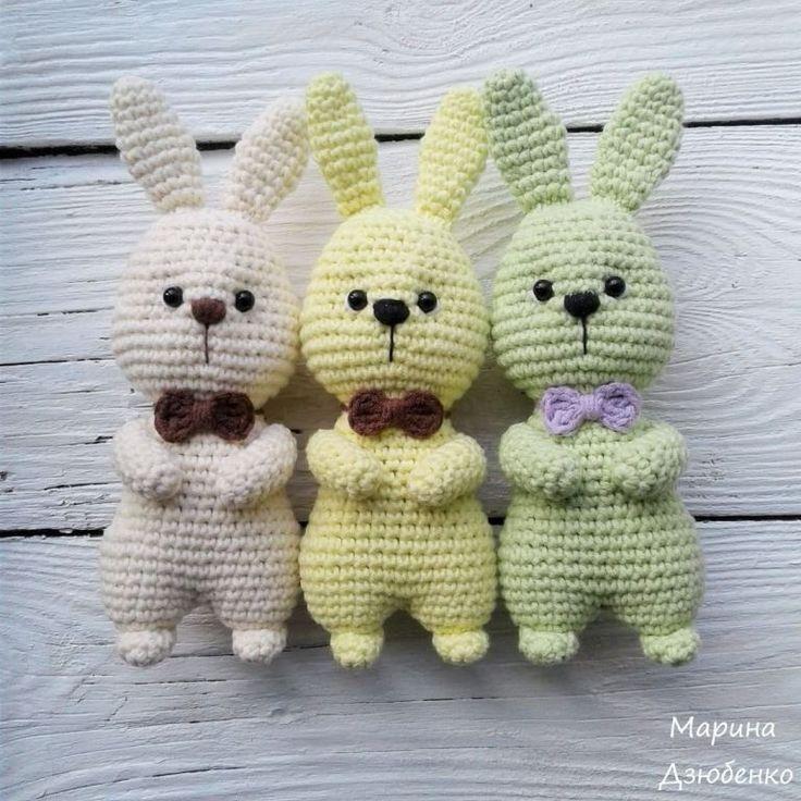 Easter bunny amigurumi: free pattern | Amiguroom Toys