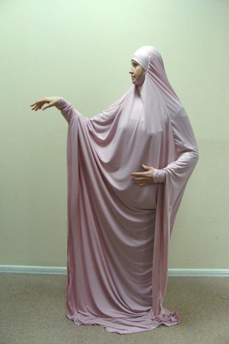 Transformer blush Khimar Maxi dress by ScarfTurbanHijab on Etsy