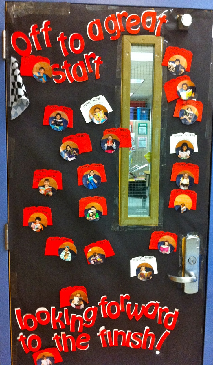 Classroom Decorations For Grade 7 ~ Mrs roux s th grade h o w l reading door decorating