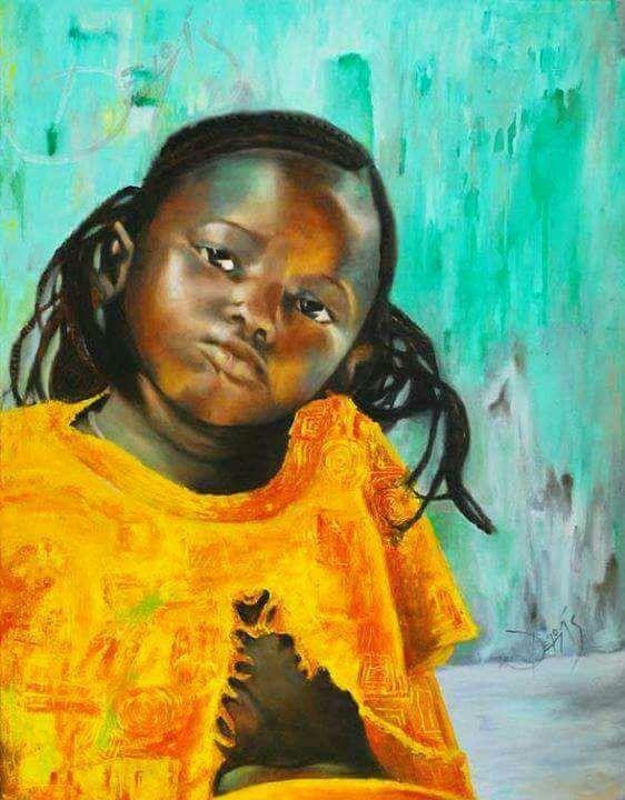 """""""Esperando"""" Óleo sobre tela 70 cm x 90 cm Autora: María Derás ©2006"""