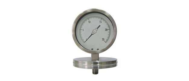 Schaeffer Gauge  A combination pressure gauge and diaphragm seal forming one unique instrument that used for low pressure corrosive media where diaphragm seal protection is needed. Process where low or high temperature will affect seal fill fluid.