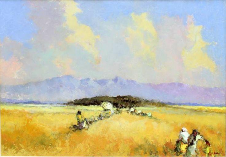 Frits Ohl (1904-1976) - Rijstplukkers op de sawah.