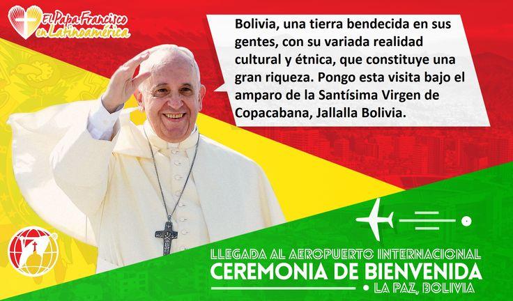 Mensaje del Papa Francisco a nuestros hermanos de Bolivia.