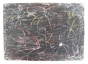 Crayon Etching Fireworks Picture