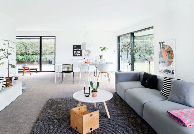 Decoración de casas: sala comedor estilo nórdico moderno