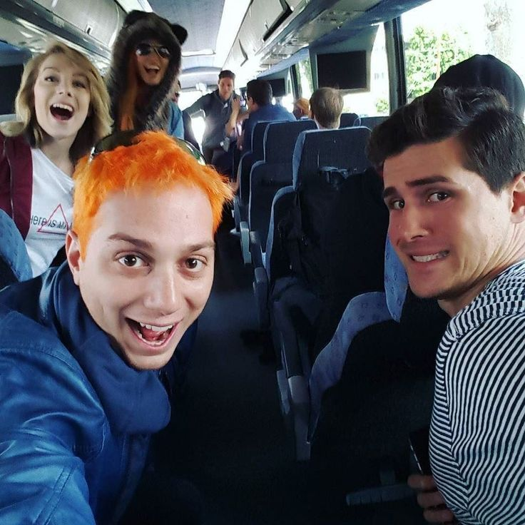 On the bus to summer games with @smoshanthony @co_mill @atomicmari and @westheeditor http://ift.tt/1qEYl3W
