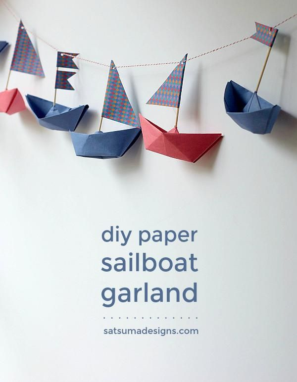 how to fold a paper boat garland | boat origami
