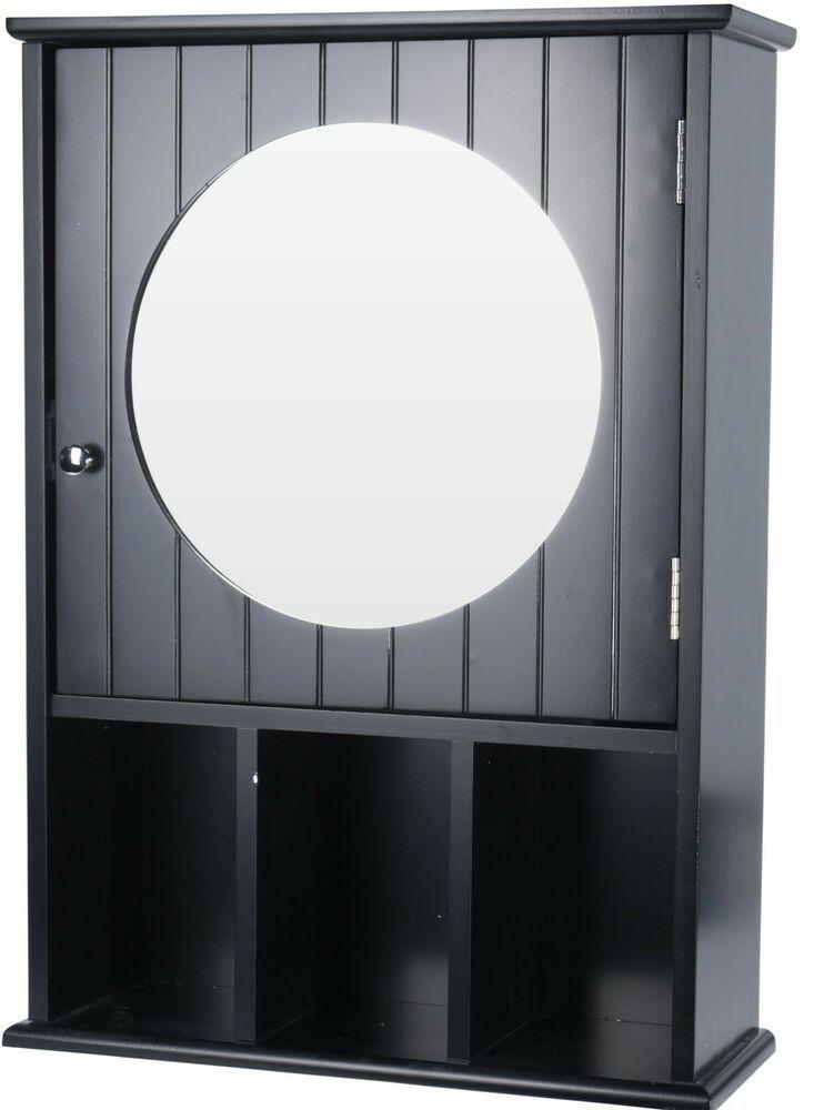 Black Bathroom Wall Cabinet With A Mirror Storage Compartments Koopman Bathroom Wall Storage Cabinets Bathroom Wall Cabinets Bathroom Wall Storage