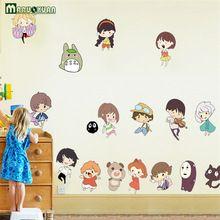 Hayao Miyazaki Animasyon Ghibli Totoro Duvar Çıkartmaları Çocuk Odası Için Karikatür Komşum Totoro Duvar Kağıdı Ev Dekor Duvar Sanatı(China (Mainland))