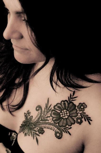 40 Cool Lace tattoo designs and some interesting information | http://stylishwife.com/2014/01/cool-lace-tattoo-designs-and-some-interesting-information.html
