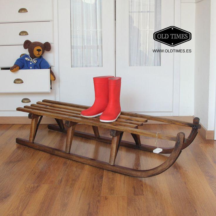 M s de 25 ideas incre bles sobre trineo de navidad en for Trineo madera decoracion