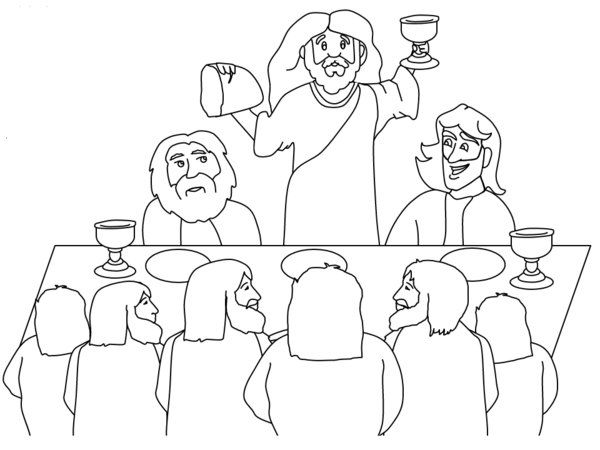 lords supper coloring pages - photo#18