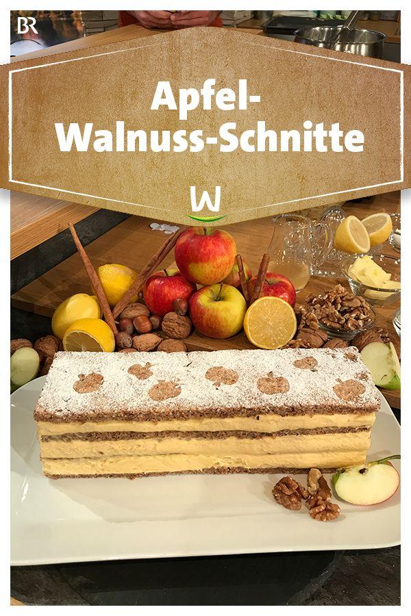 Wir In Bayern Rezepte Apfel Walnuss Schnitte Br De Kuchen Und Torten Lebensmittel Essen Rezepte