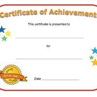 blank certificate of achievement