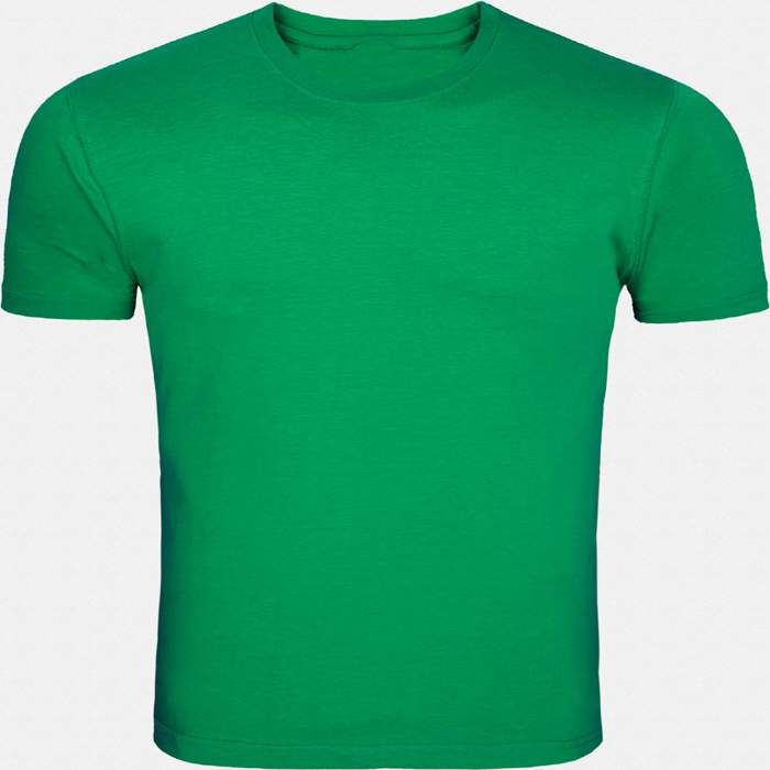 This green round necked, half-sleeved plain T-shirt gives a casual fit to you for all seasons. Wear this super-comfortable cotton T-shirt with denims and trousers or for a workout or even under a casual jacket.