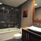 "Modern ""Zen"" bathroom designed by Habitar built by Stratagem"