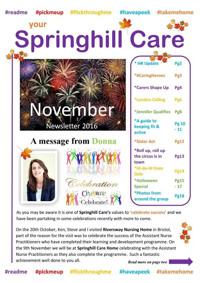 Springhill Care Group Newsletter November 2016