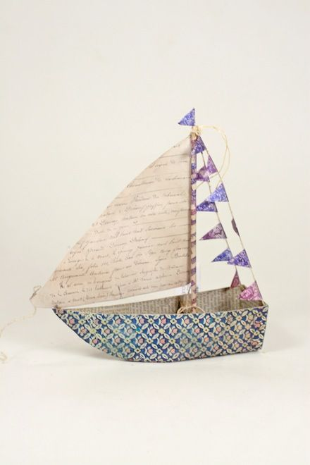 Float away to far away lands with our dreamy sail boat ornament, beautiful displayed on a windowsill or shelf any time of year!