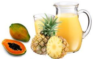 How to Make Digestive Enzyme Detox Smoothie. It has papaya and pineapple that have enzymes needed for digestion.