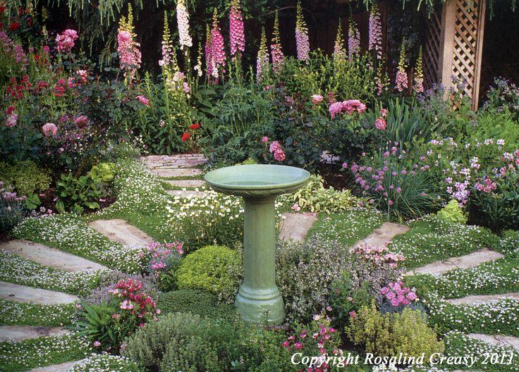 Beautiful circle herb garden