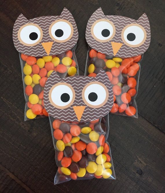 Owl Bag Topper. Perfect Party Favor for Fall by LilacsAndCharcoal