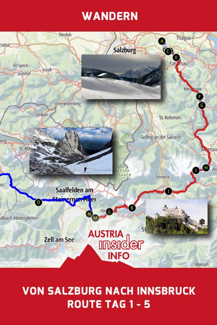 Weitwandern Salzburg Innsbruck Route Tag 1 5 Salzburger Blogger