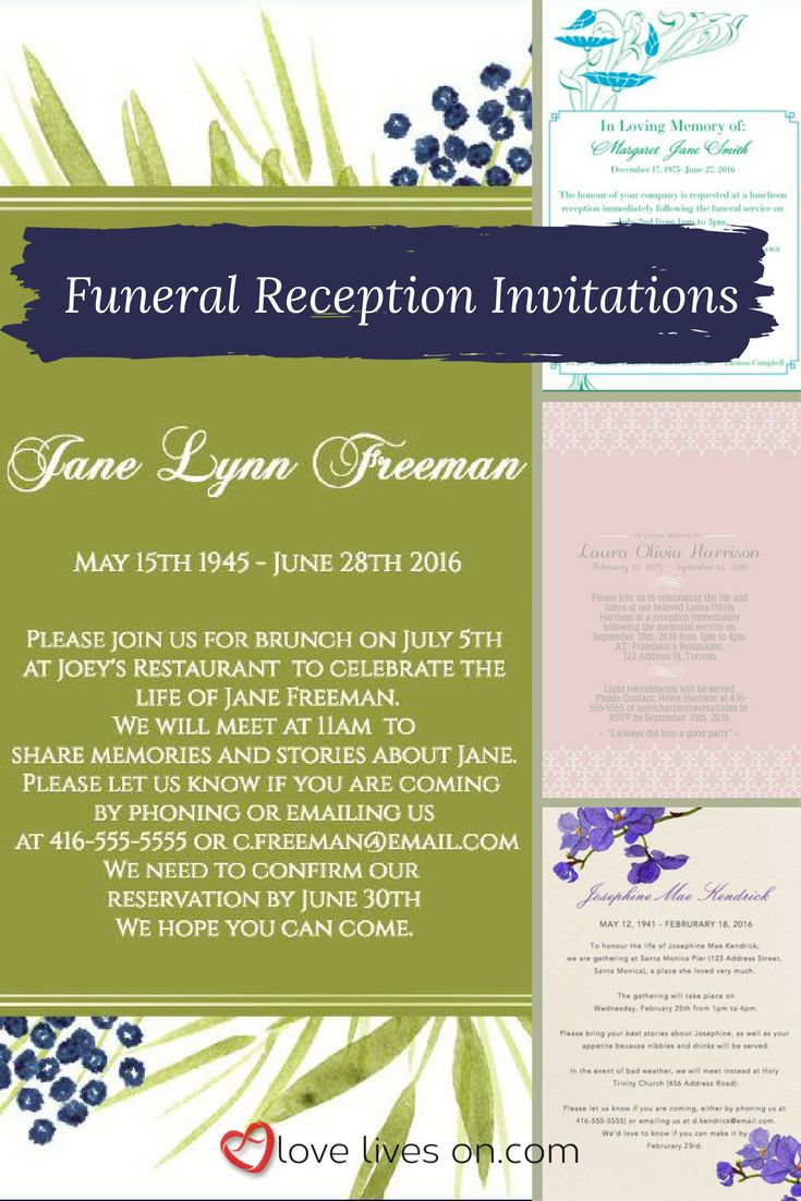 17 best ideas about Reception Invitations – Funeral Reception Invitation