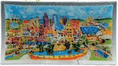 KC Icons plate designed by Mike Savage and glass artist Peggy Karr. I finally got one!!!