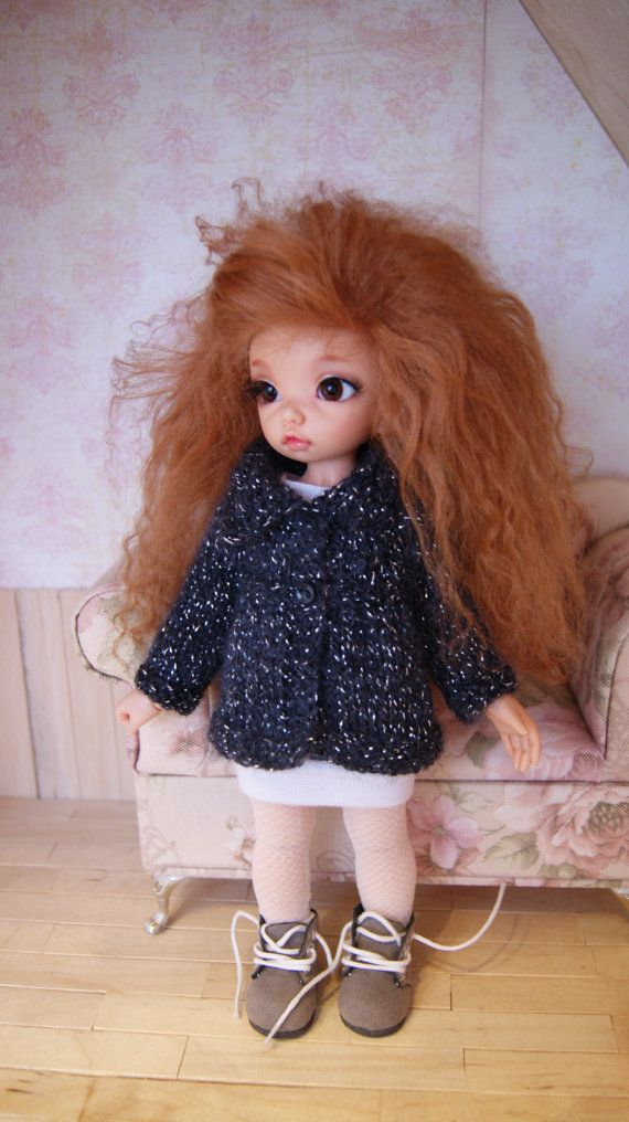 Knitted cardigan for littlefee yosd . by CocoDolls on Etsy