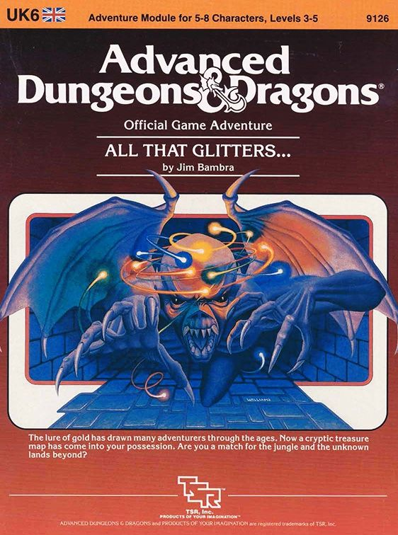 uk6 all that glitters 1e book cover and interior art for advanced dungeons and dragons 1. Black Bedroom Furniture Sets. Home Design Ideas