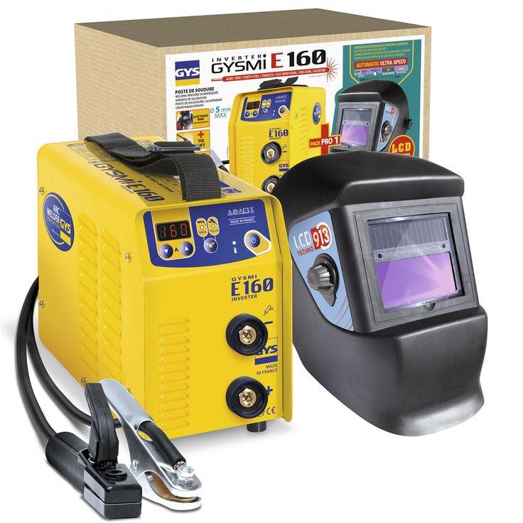 GYS Set: Lasinverter GYSMI E160 + LCD Techno 9/13